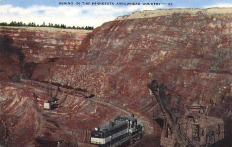 Mountain Iron Mine, Mountain Iron Minnesota, 1950