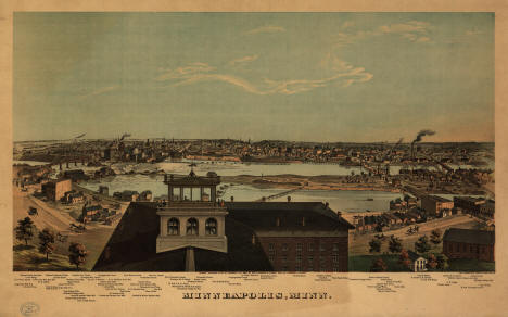 View of Minneapolis Minnesota, 1874
