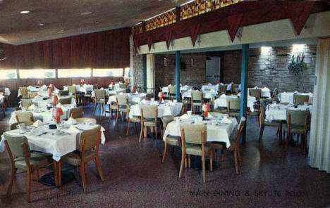 Main Dining Room and Skylite Room, Worwa's Cafe, 2300 University Avenue NE, Minneapolis Minnesota, 1950's