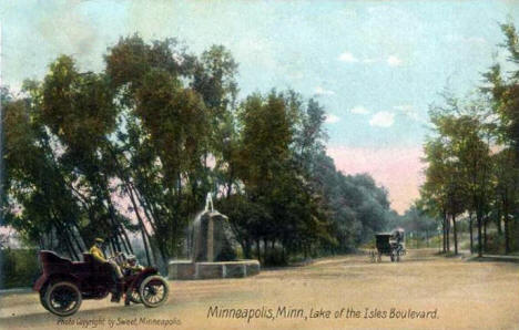 Lake of the Isles Boulevard, Minneapolis Minnesota, 1907