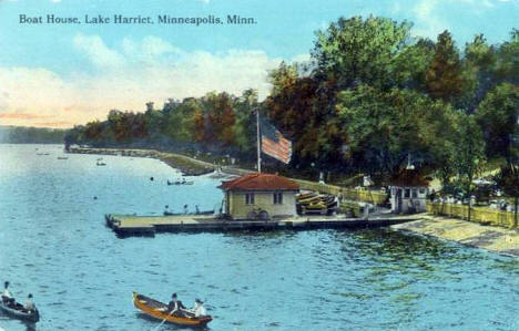 Boat House, Lake Harriet, Minneapolis Minnesota, 1914