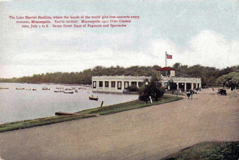 Lake Harriet Pavilion, Minneapolis Minnesota, 1911