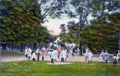 Playground at Riverside Park, Minneapolis Minnesota, 1912