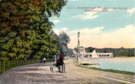 Lake Harriet Boulevard and Pavilion, Minneapolis Minnesota, 1911