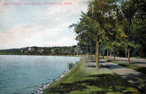 Lake Harriet Boulevard, Minneapolis Minnesota, 1910