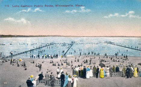 Lake Calhoun Public Baths, Minneapolis Minnesota, 1916