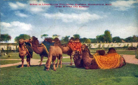 Longfellow Zoological Gardens at 4001 Minnehaha Parkway East, Minneapolis Minnesota, 1910's