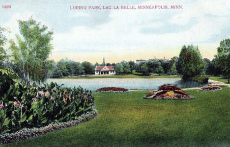 Loring Park, Lac La Belle, Minneapolis Minnesota, 1910's