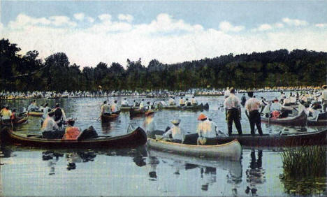 Canoeing on Lake of the Isles, Minneapolis Minnesota, 1921