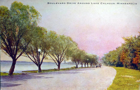 Boulevard Drive around Lake Calhoun, Minneapolis Minnesota, 1910's