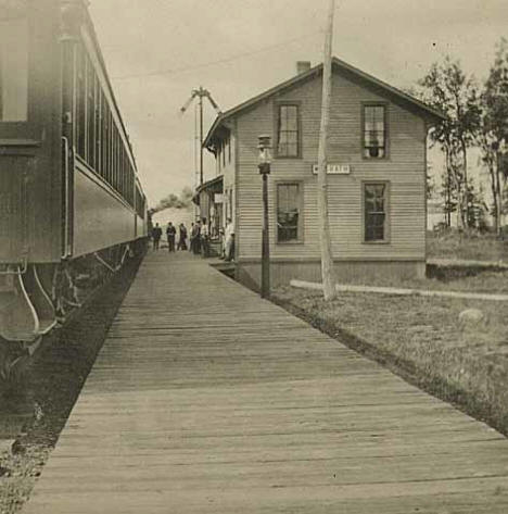 Depot at McGrath Minnesota, 1910