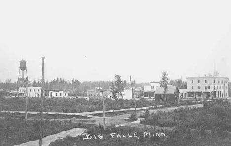 A general view of Big Falls Minnesota, 1908