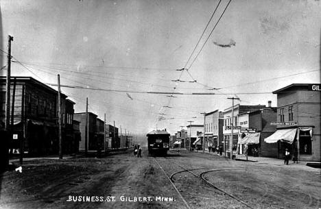 Business Street, Gilbert Minnesota, 1920