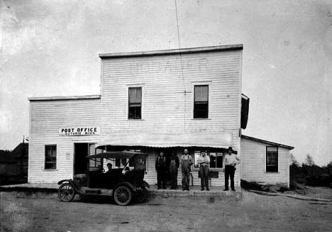 Post office and store, Guthrie Minnesota, 1910