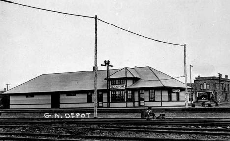 Great Northern Depot, Sandstone Minnesota, 1915