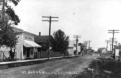 Street scene, Willow River Minnesota, 1905