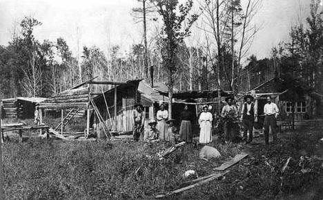 Indian camp near Sandstone Minnesota, 1909