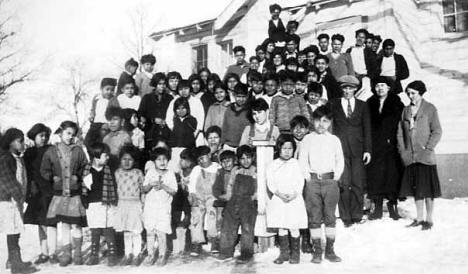 Vineland school children, Mille Lacs Reservation.
