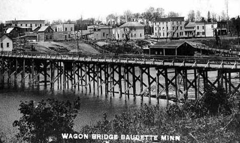 Wagon Bridge and view of Baudette.