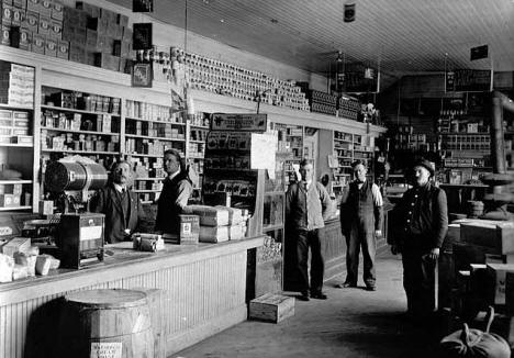 Albert Daniels General Store, Sandstone Minnesota, around 1905 - 1910