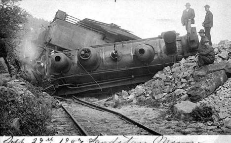 Train wreck at Sandstone Minnesota, September 29th, 1907