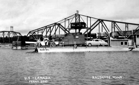 United States-Canada ferry boat, Baudette.