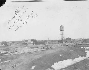 Deer River Water Tower and Whiskey Row - 1903