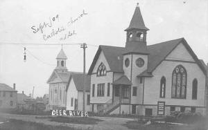 Methodist Episcopal  Church and Catholic Church, Deer River.