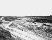 View of stripping operations at the Gross-Marble open pit at Marble.