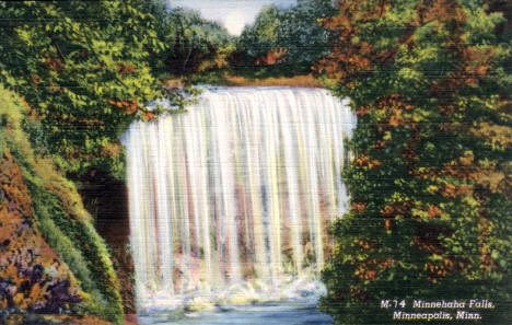 Minnehaha Falls, Minneapolis Minnesota, 1938