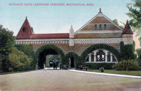 Entrance Gate, Lakewood Cemetery, Minneapolis Minnesota, 1910's