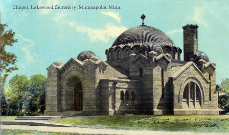 Chapel, Lakewood Cemetery, Minneapolis Minnesota, 1910's
