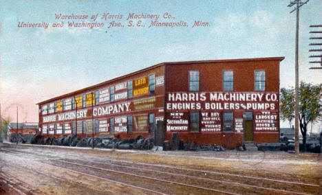 Harris machinery Warehouse, University and Washington Avenues SE, Minneapolis Minnesota, 1910's