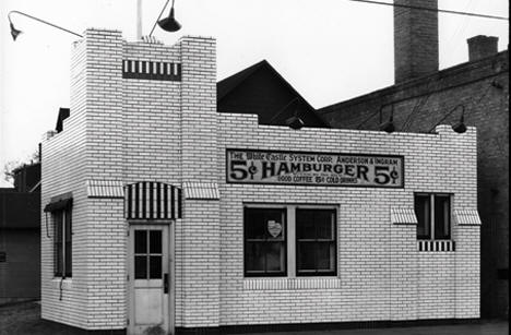 White Castle at 616 Washington Avenue SE, Minneapolis Minnesota, 1930's