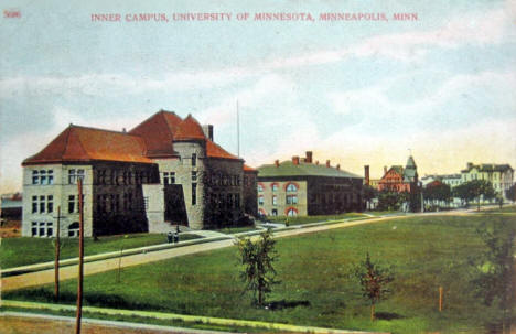 Inner Campus, University of Minnesota, Minneapolis Minnesota, 1909
