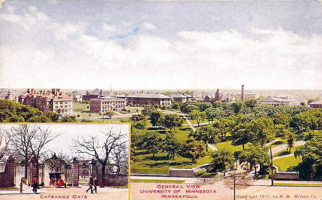 General view, University of Minnesota, Minneapolis Minnesota, 1907