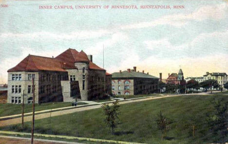 Inner Campus, University of Minnesota, Minneapolis Minnesota, 1916