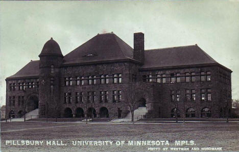 Pillsbury Hall, University of Minnesota, Minneapolis Minnesota, 1910