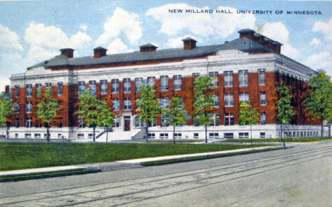 New Millard Hall, University of Minnesota, Minneapolis Minnesota, 1915