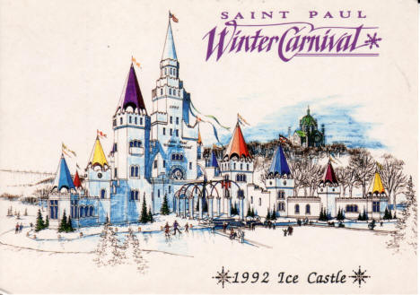 Ice Palace, 1992 Winter Carnival, St. Paul Minnesota