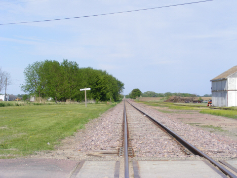 Railroad tracks, Alpha Minnesota, 2014