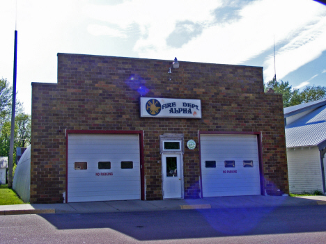 Fire Department, Alpha Minnesota, 2014