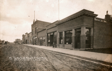 South side of Main Street, Amboy Minnesota, 1910