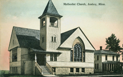 Methodist Church, Amboy Minnesota, 1910's
