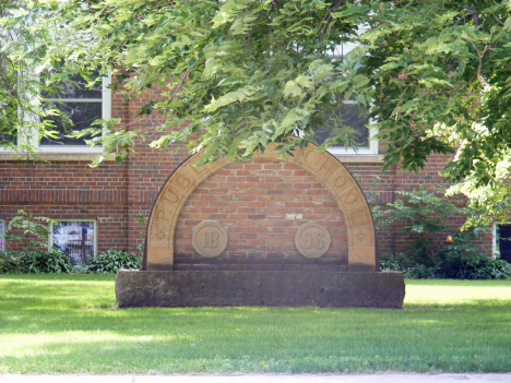 Arch from old public school, Amboy Minnesota, 2014