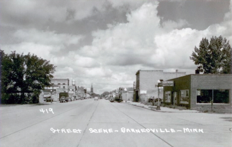 Street scene, Barnesville Minnesota, early 1950's