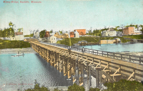 Wagon Bridge, Baudette Minnesota, 1909