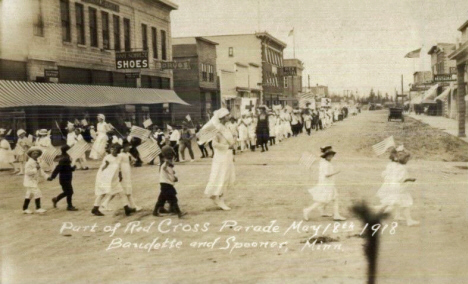 Red Cross Parade, Baudette and Spooner Minnesota, May 18th 1918