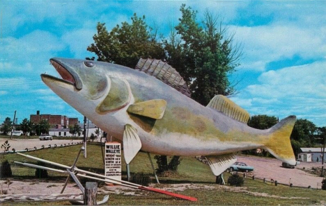 Willie Walleye, Baudette Minnesota, 1960's