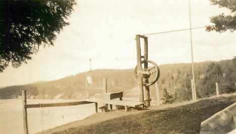 Scene at Fonstead's Resort, Beaver Bay Minnesota, 1930's